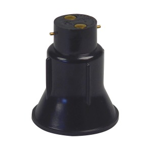 Reducing lampholder B22-E27, for lamp E27